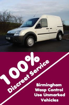 South Woodgate Wasp Control use unmarked vehicles with 100% discreet service, contact us on 0121 450 9784  for more info.